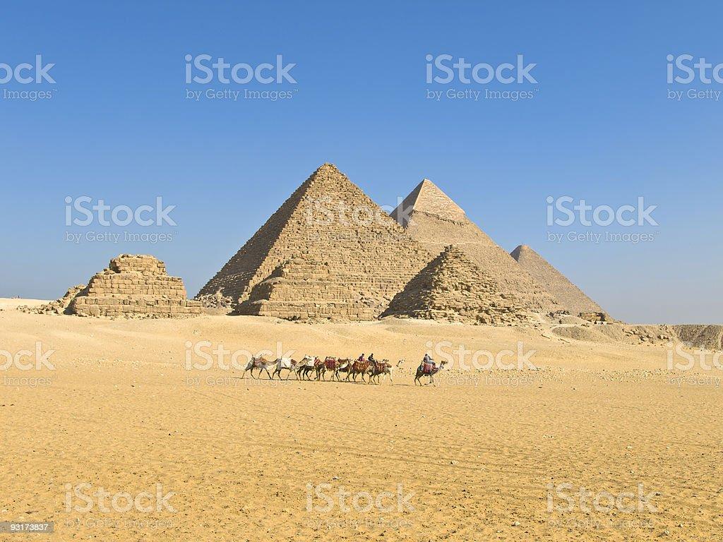 Pyramids of Giza stock photo