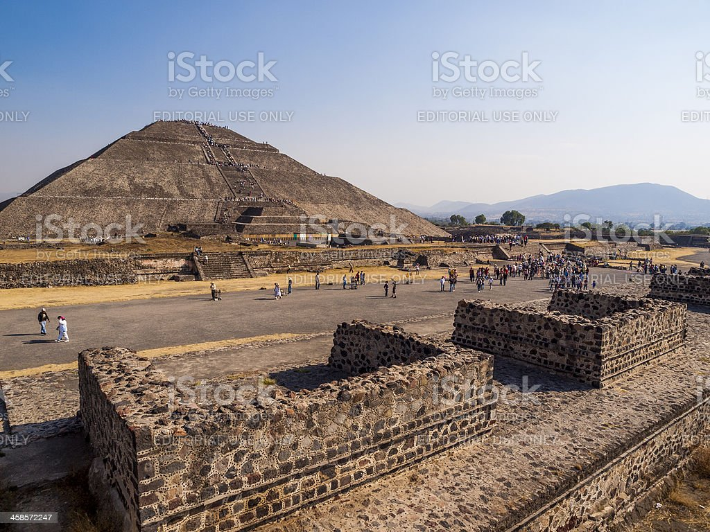 Pyramids of teotihuacan, Mexico city royalty-free stock photo