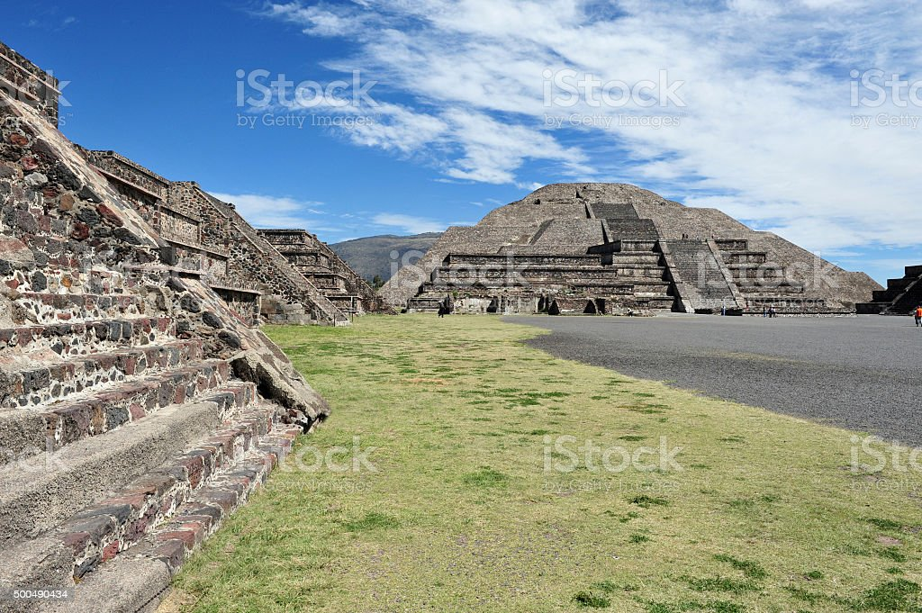 Pyramids of Teotihuacan stock photo