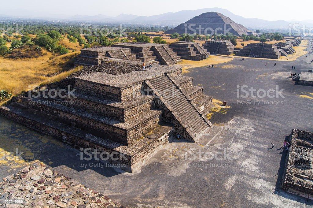 Pyramids of Teotihuacán, Mexico stock photo