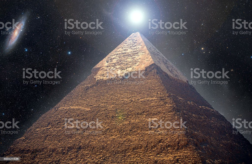 pyramids of the pharaohs in Giza stock photo