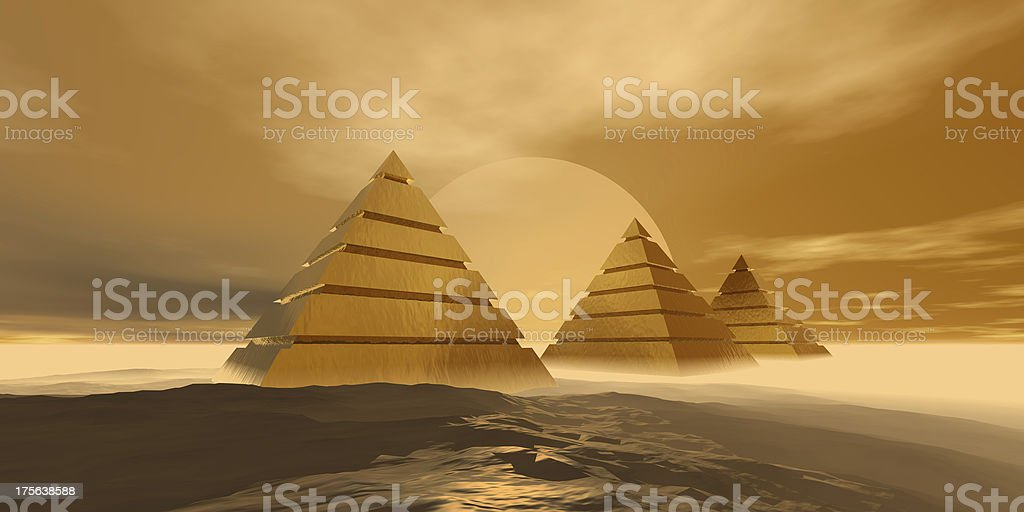 Pyramids royalty-free stock photo