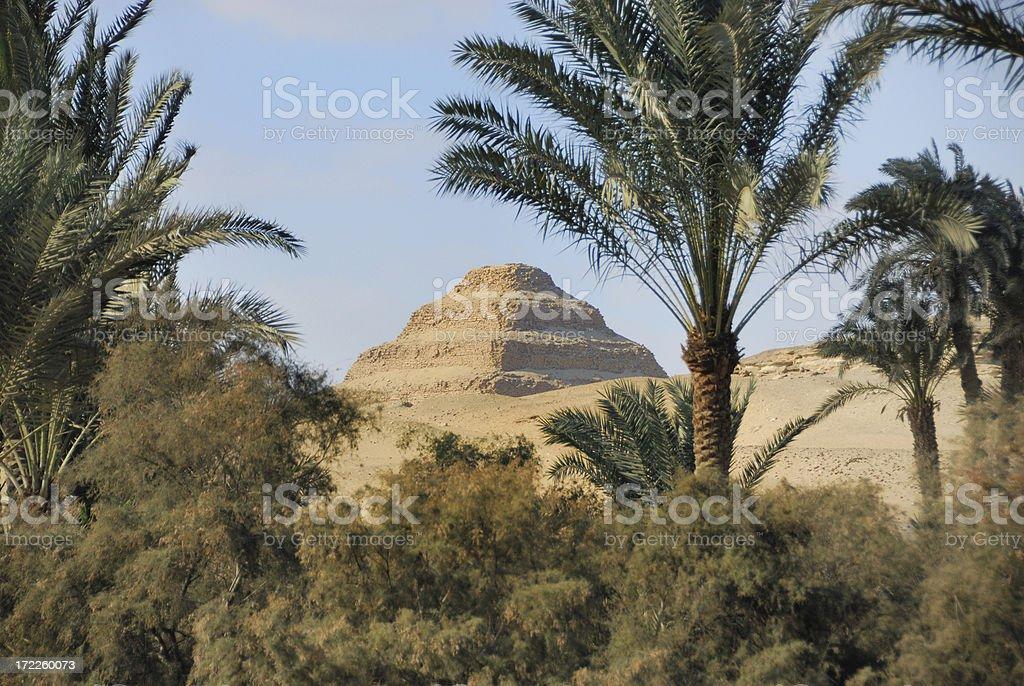 Pyramids Sakkara stock photo