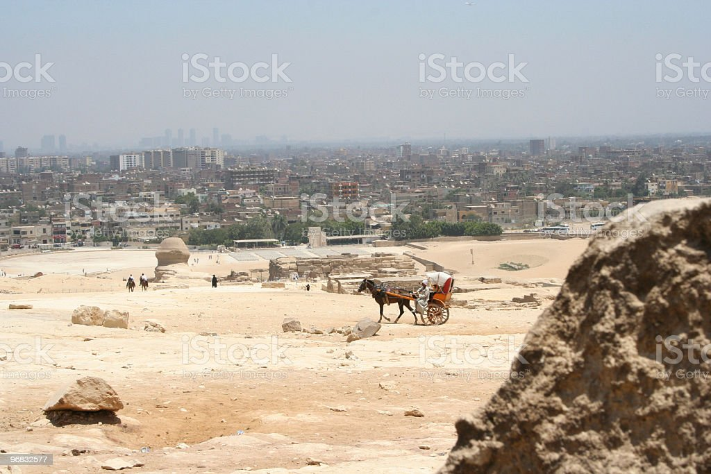 Pyramids & Spinx Tour royalty-free stock photo