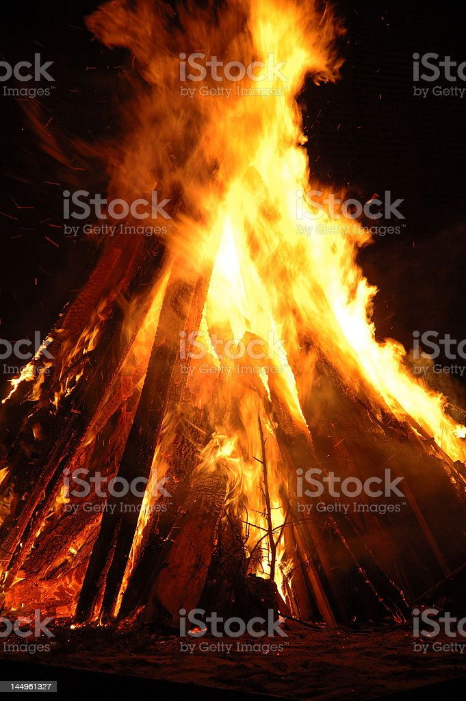 Pyre - Bonfire stock photo