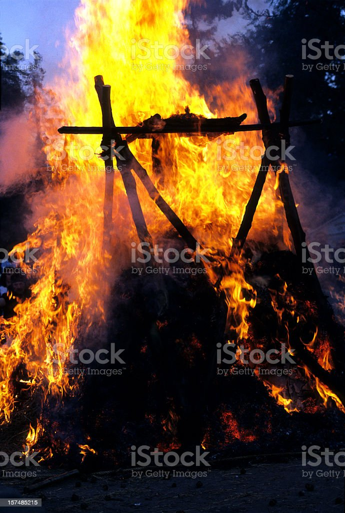 pyre stock photo