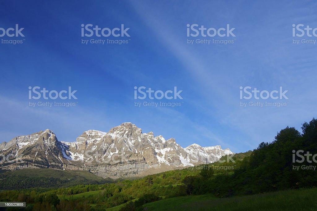 Pyrenean dawn royalty-free stock photo