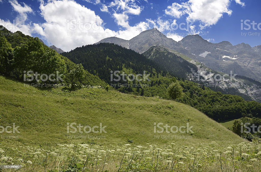 Pyrenees in summer stock photo