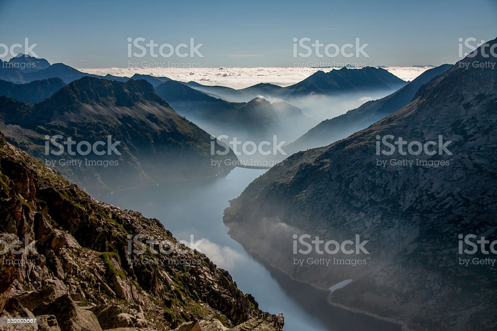 Pyrenees' lake stock photo