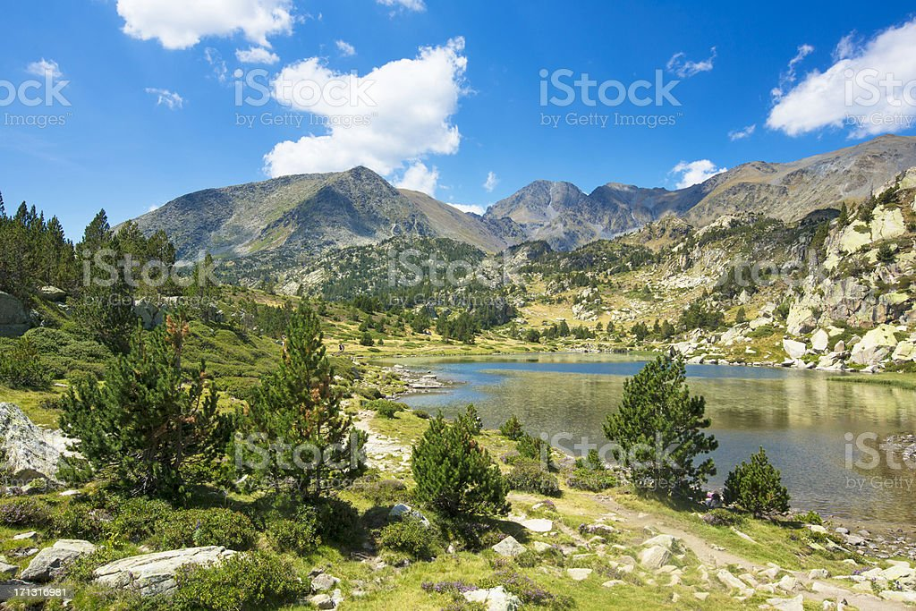 Pyrenees landscape stock photo