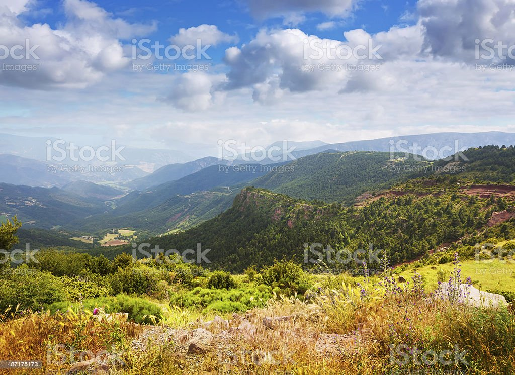 Pyrenees mountains landscape in summer stock photo