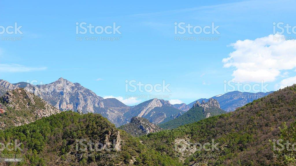 Pyrenees mountains stock photo