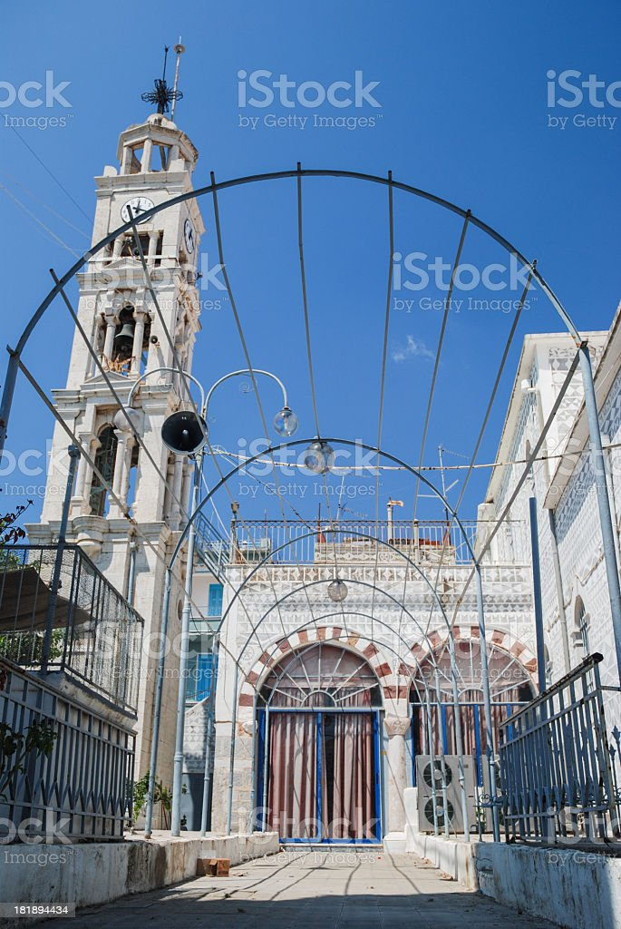 Pyrgi church stock photo