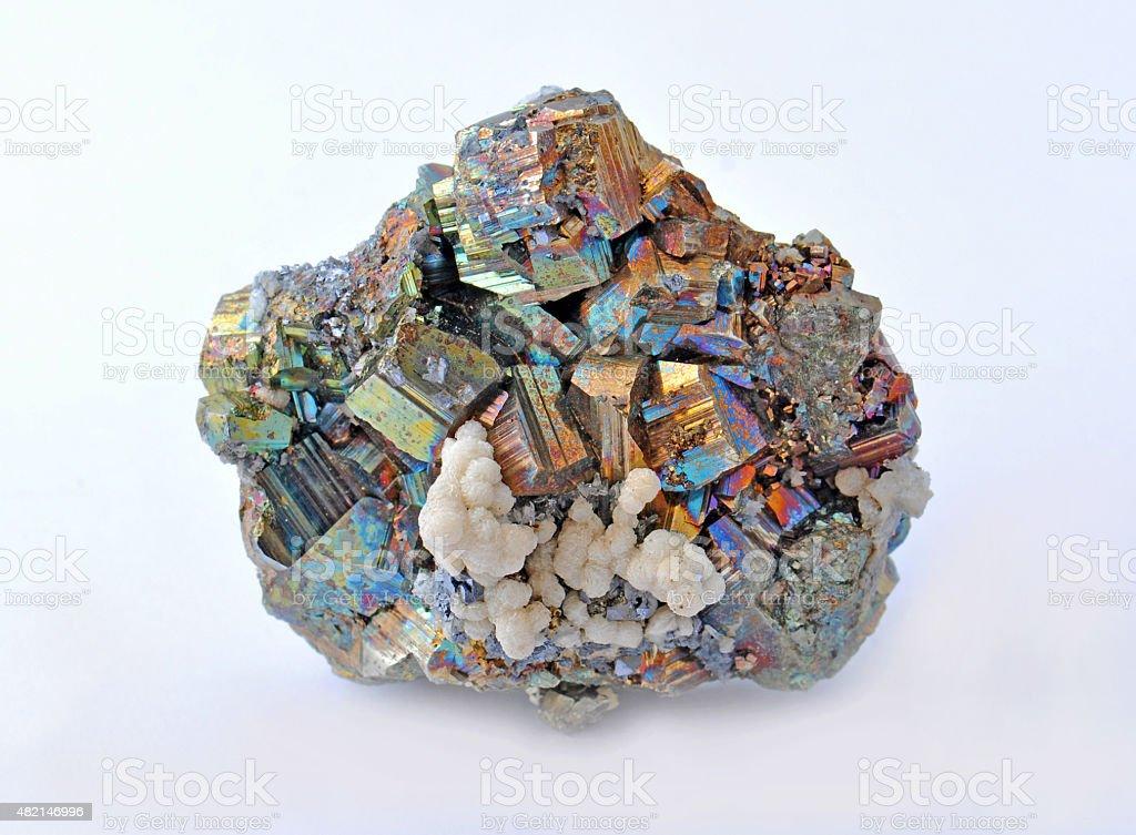 Pyrite and chalcopyrite stock photo