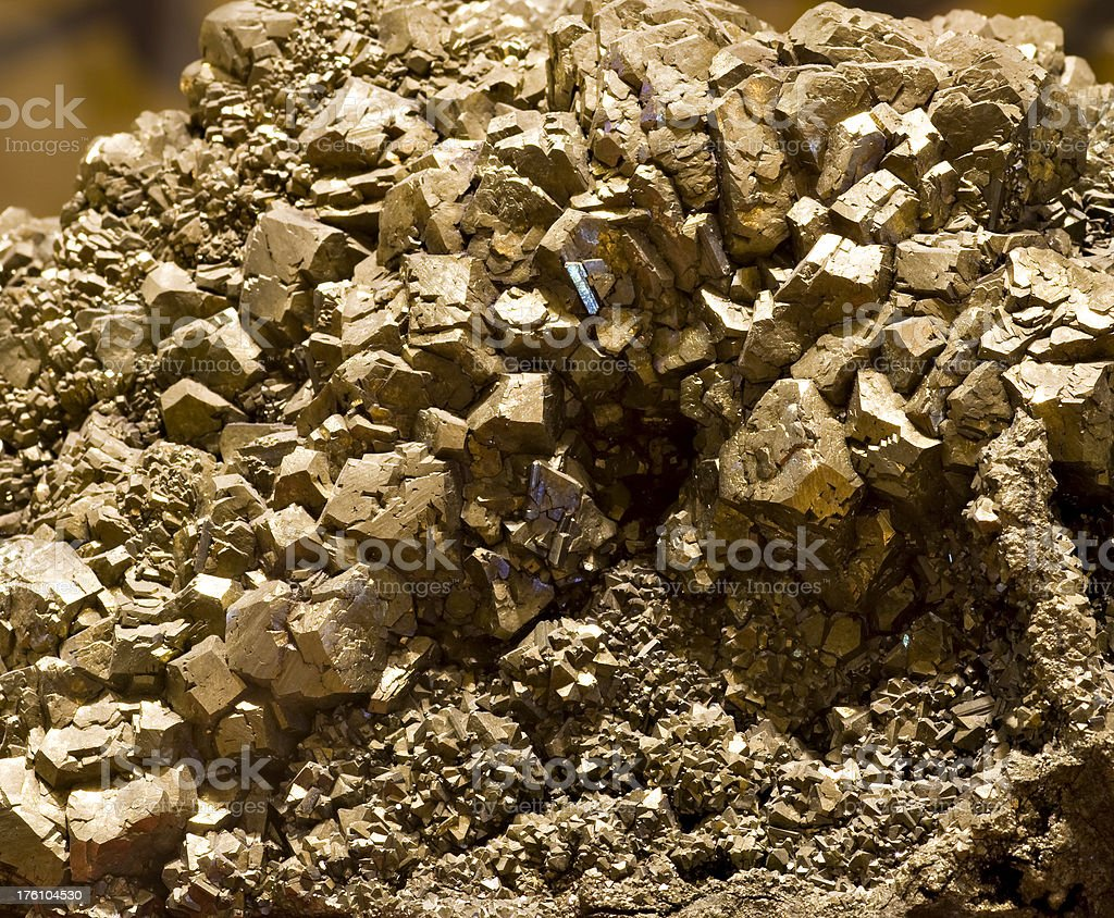 Pyrite crystals royalty-free stock photo