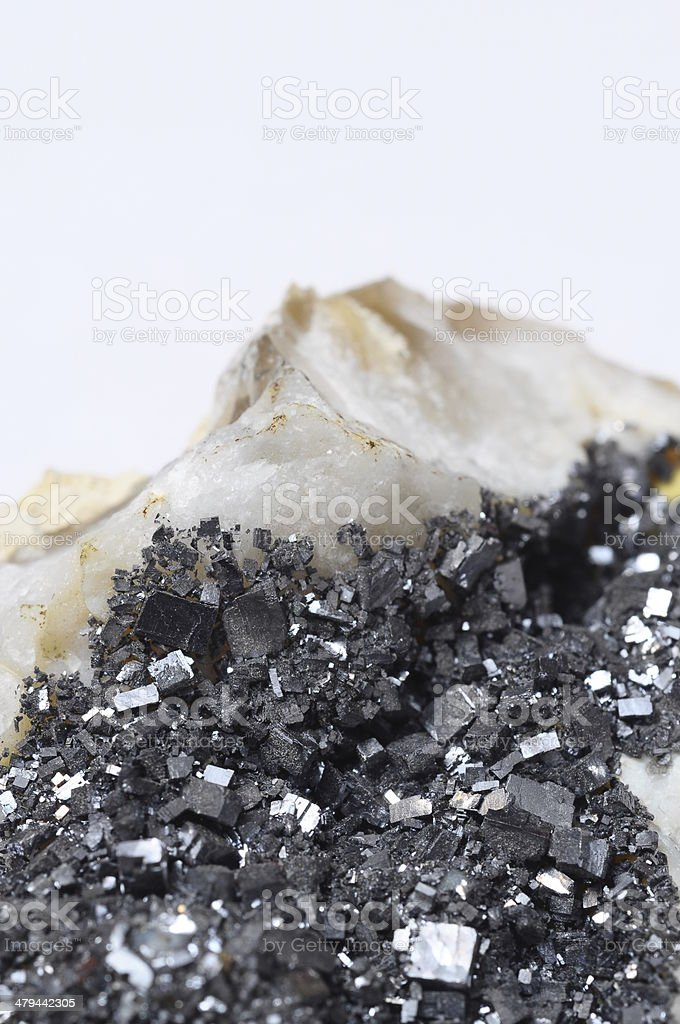 Pyrite mineral stone royalty-free stock photo
