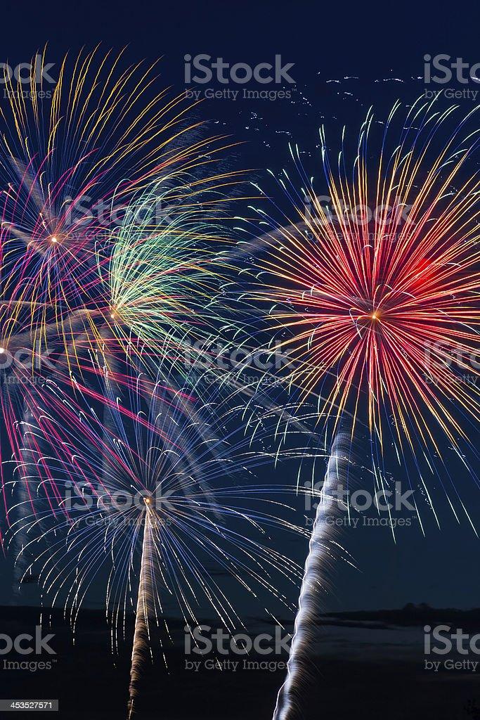 Pyrotechnia foto stock royalty-free