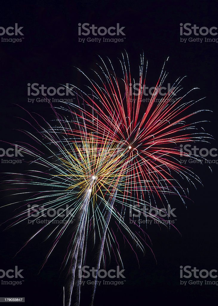 Pyrotechnic Colors stock photo
