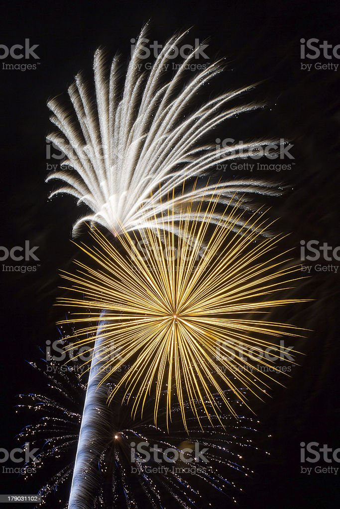 Pyrotechnic Explosions stock photo