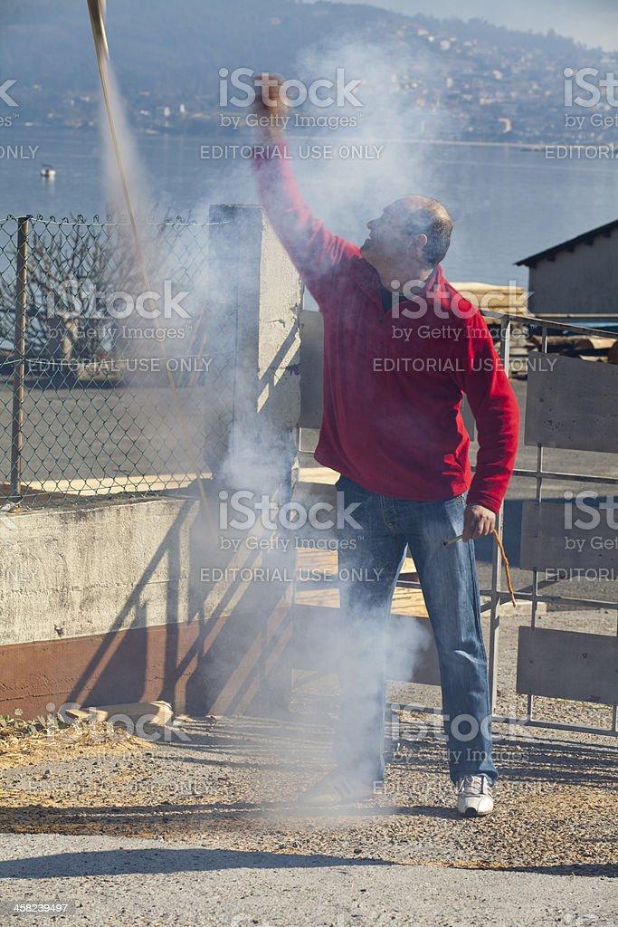Pyrotechnics royalty-free stock photo