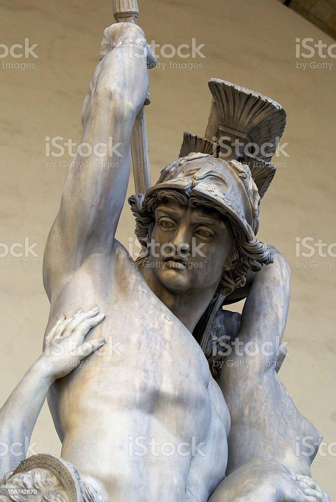Pyrrhus abducting Polyxena stock photo