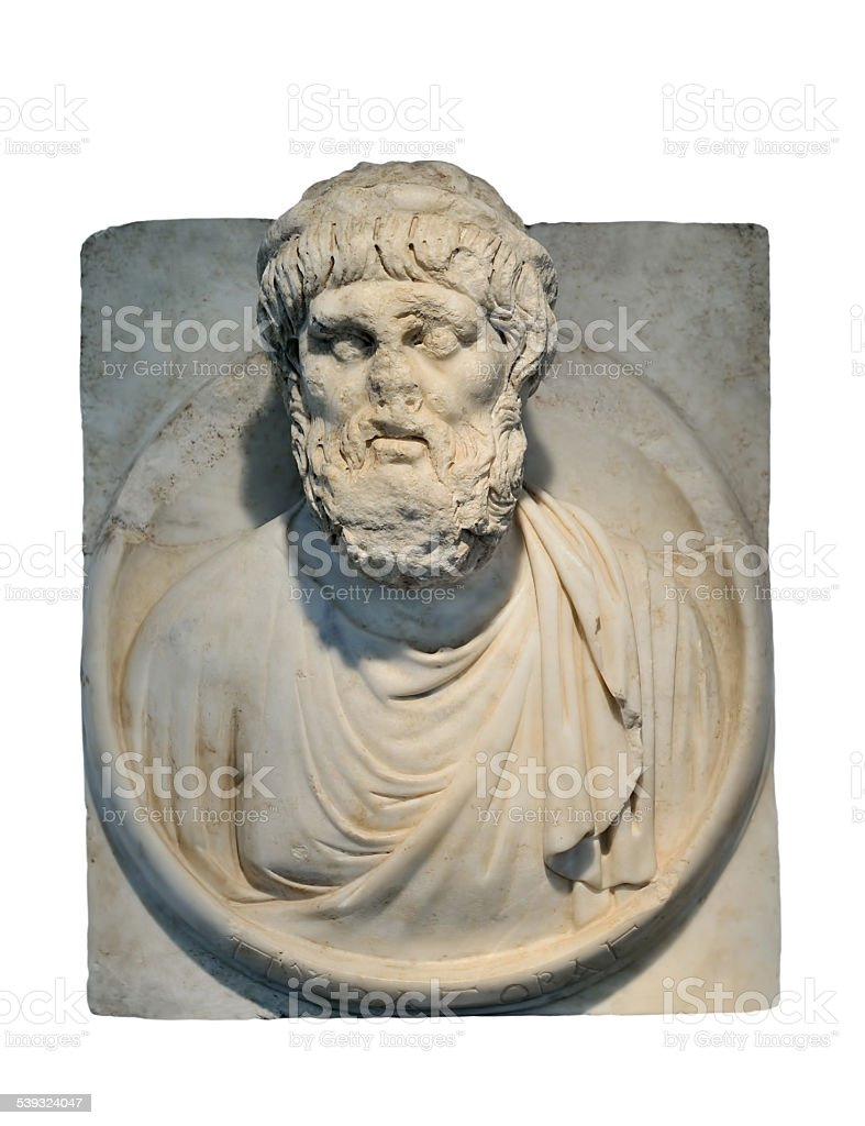 Pythagoras Bust stock photo