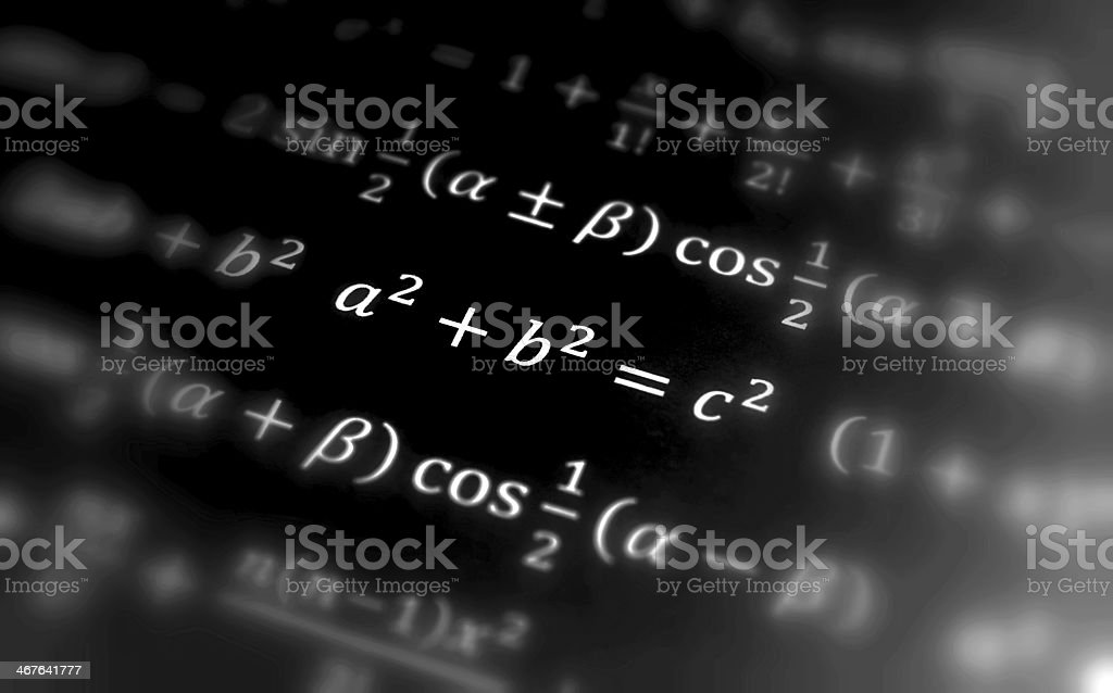 Pythagoras equation stock photo