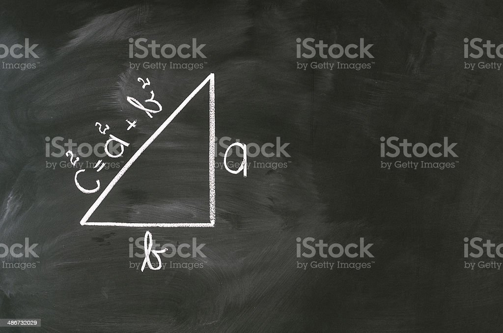 Pythagoras formula stock photo