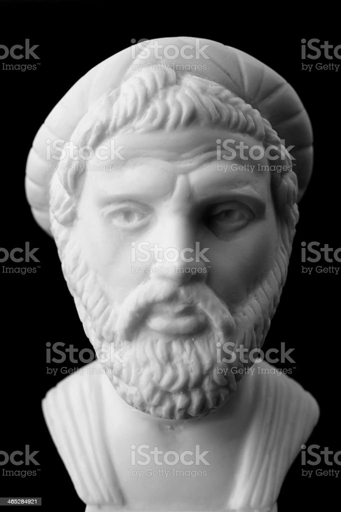 Pythagoras of Samos, was an important Greek philosopher, mathema stock photo