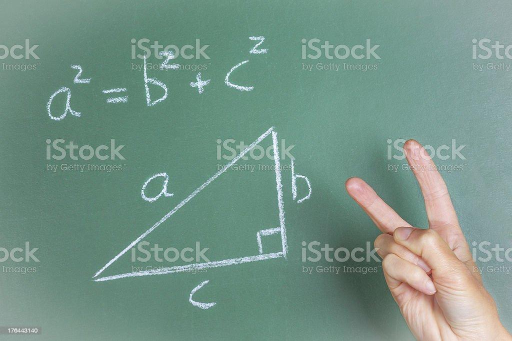 Pythagoras Theorem dissing royalty-free stock photo