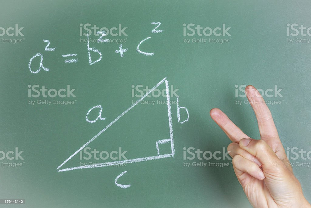 Pythagoras Theorem dissing stock photo