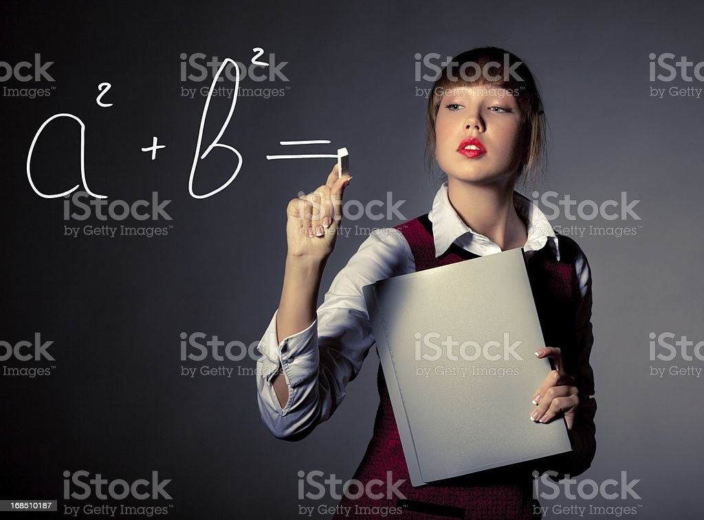 Pythagoras' Theorem royalty-free stock photo