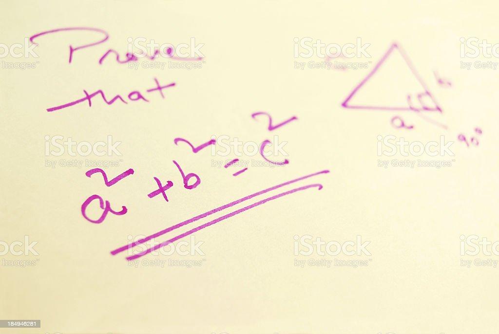 Pythagoras Theorem royalty-free stock photo