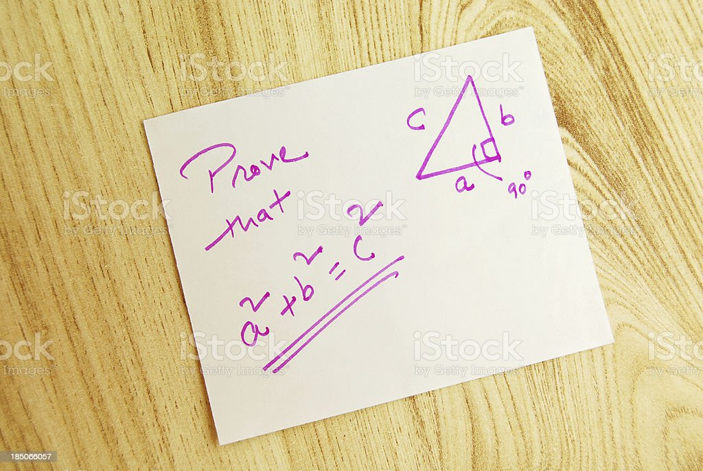 Pythagoras Theorem stock photo