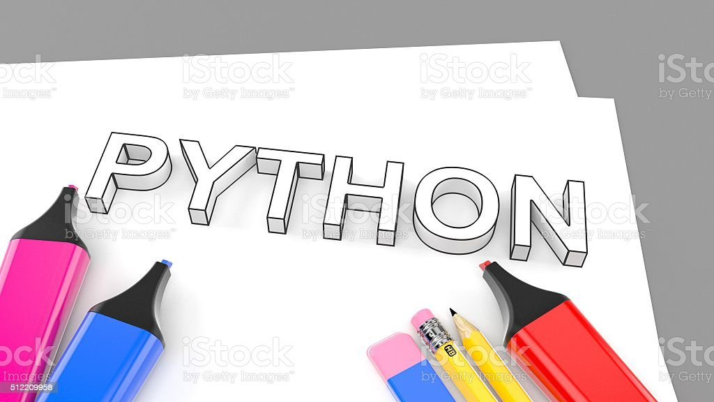 Python stock photo