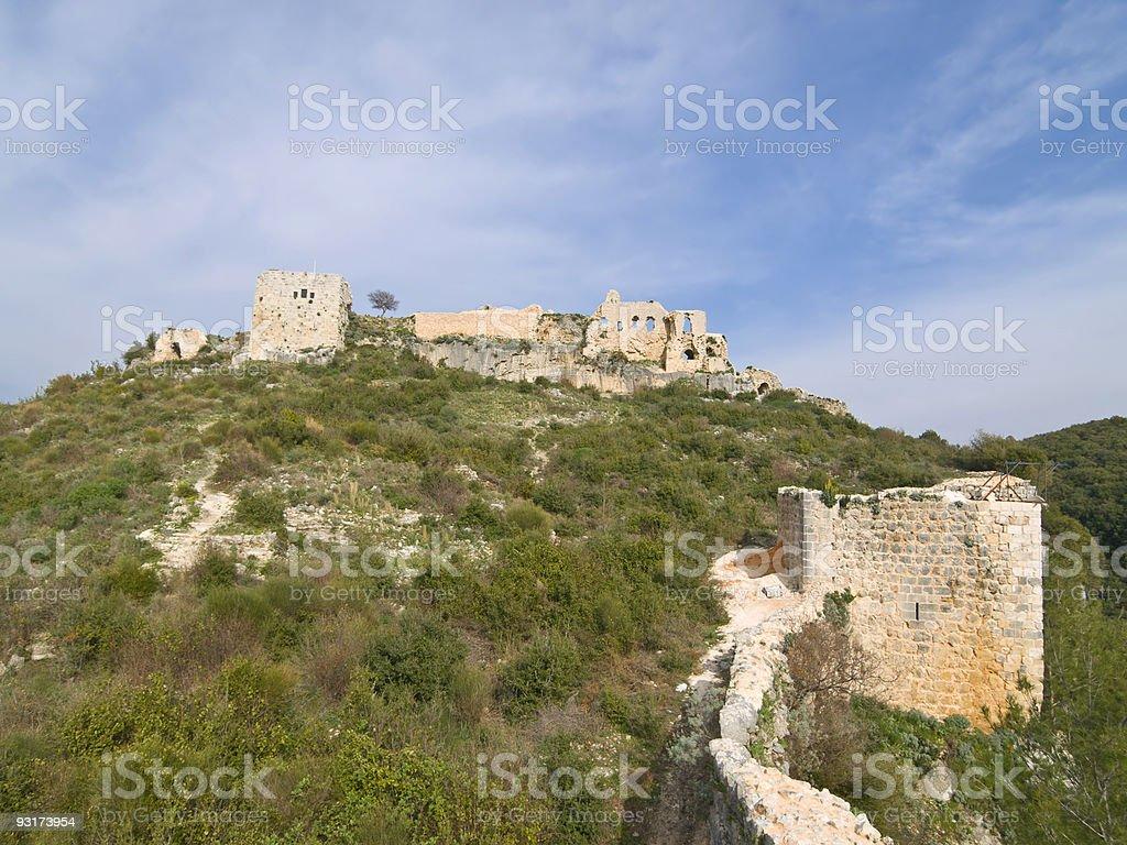 Qala'at Saladin castle stock photo