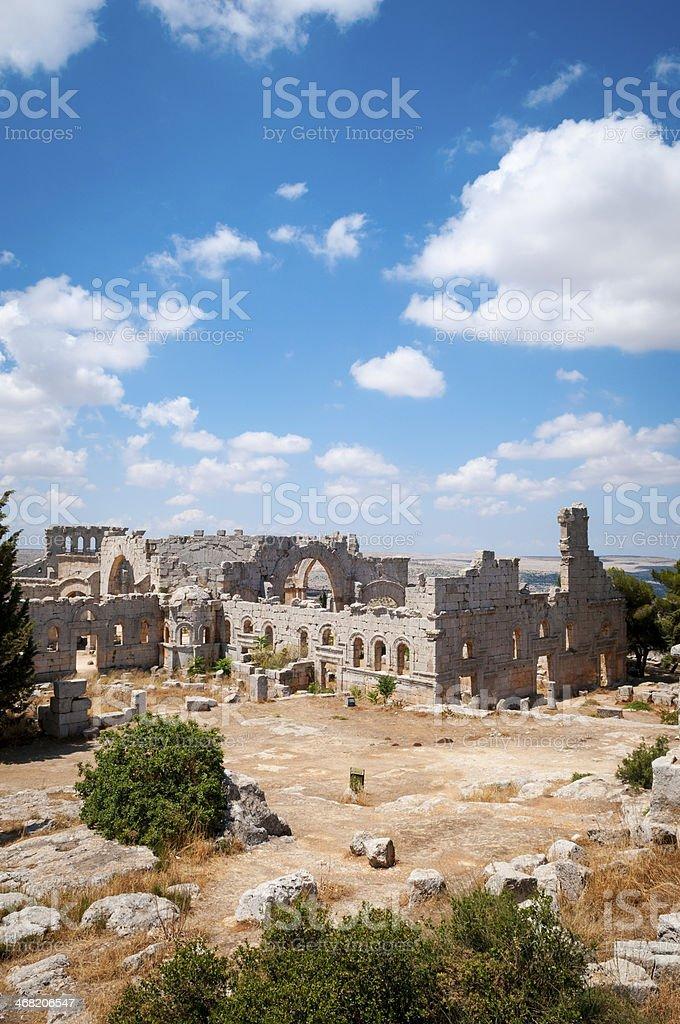 Qala'at Samaan - Church of Saint Simeon the Stylite stock photo