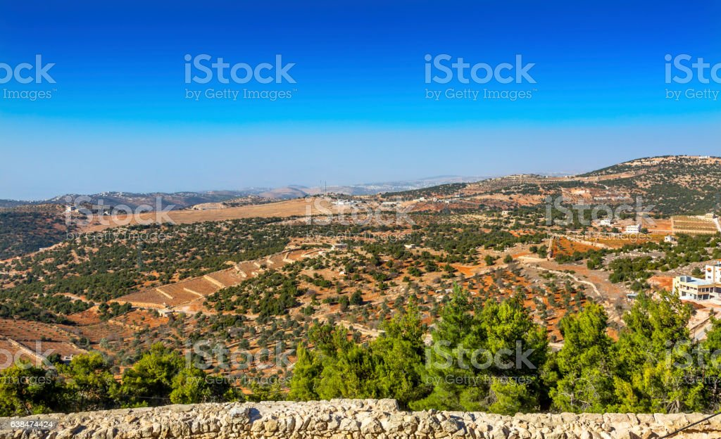 Qalat ar-Rabid Ancient Arabic Fortress Castle Ajlun Jordan stock photo