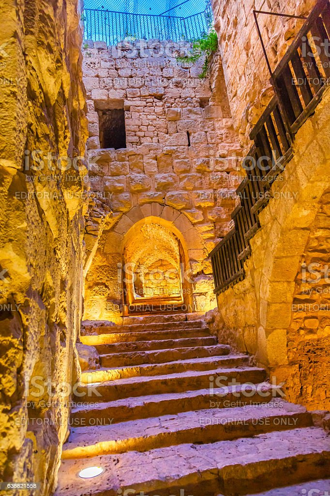 Qalat ar-Rabid Ancient Arabic Fortress Castle Ajlun Jordan stock photo