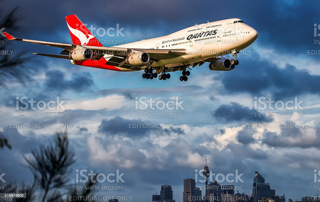 Qantas  747-400 stock photo