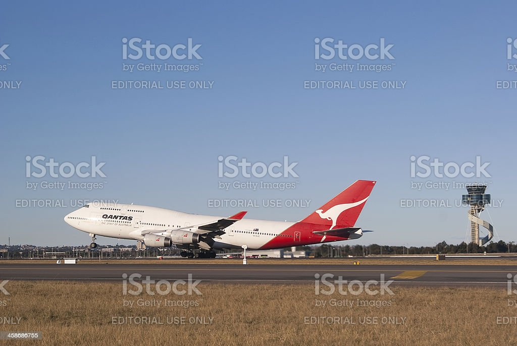 Qantas Airways B747-400 royalty-free stock photo