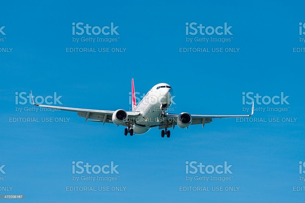 Qantas passageiro Avião pousando foto royalty-free