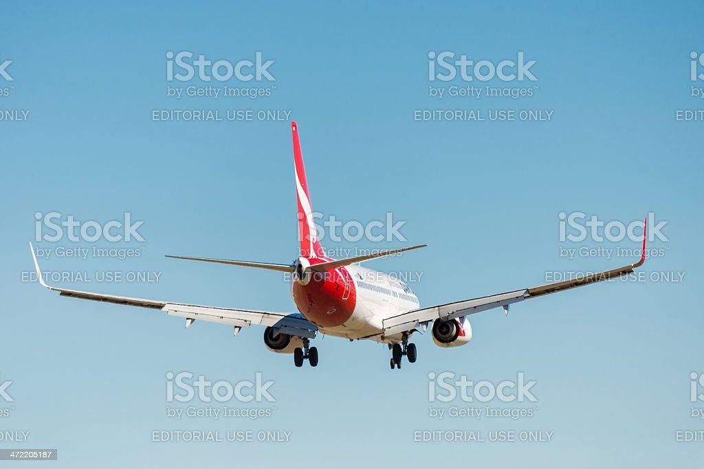 Qantas passageiro avião decolando foto royalty-free