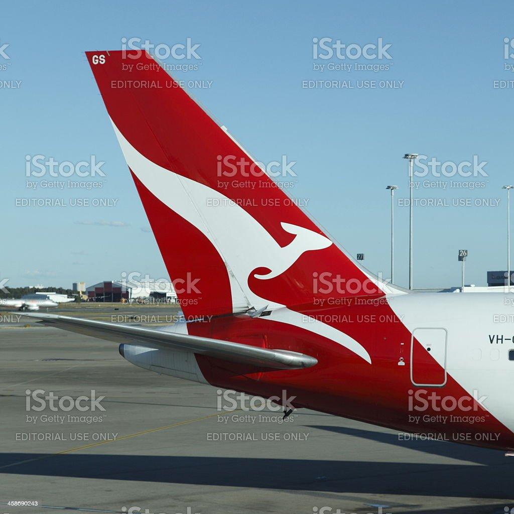 Qantas royalty-free stock photo