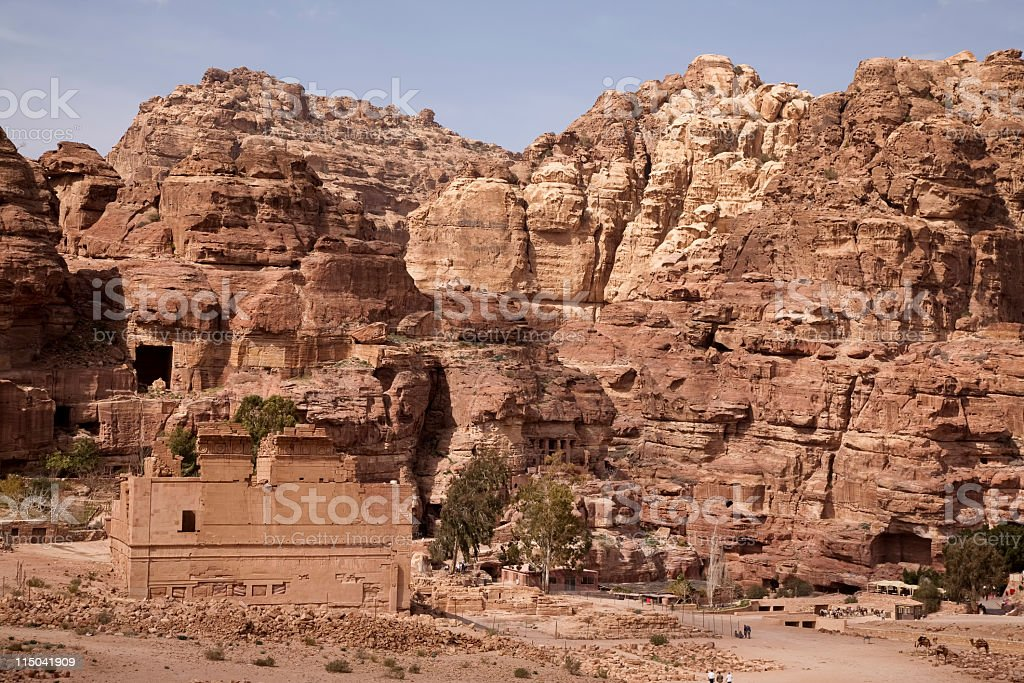 Qasr al-Bint stock photo