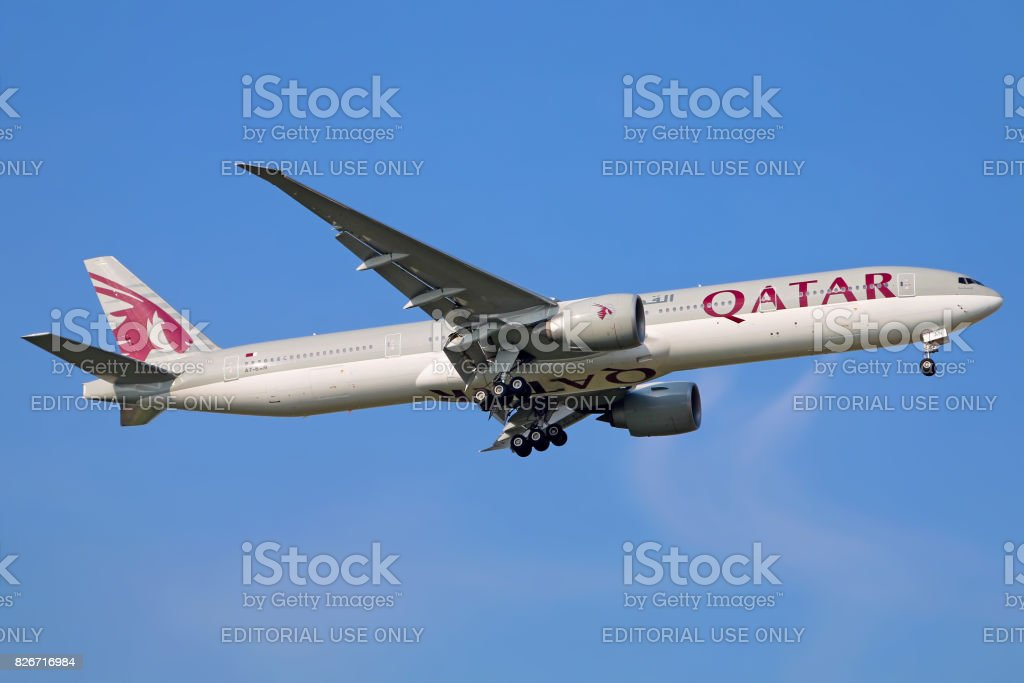 Qatar Airways aircraft stock photo