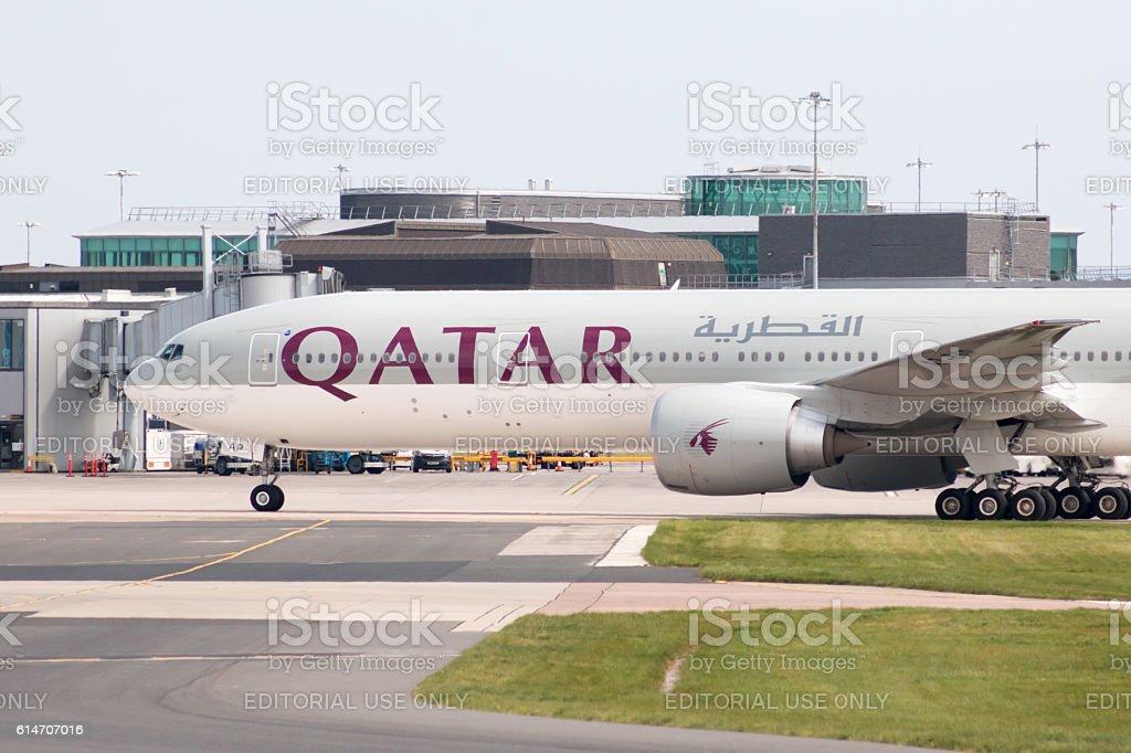 Qatar Airways Boeing 777 stock photo