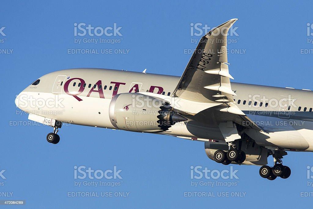 Qatar Airways Boeing 787-8 Dreamliner stock photo