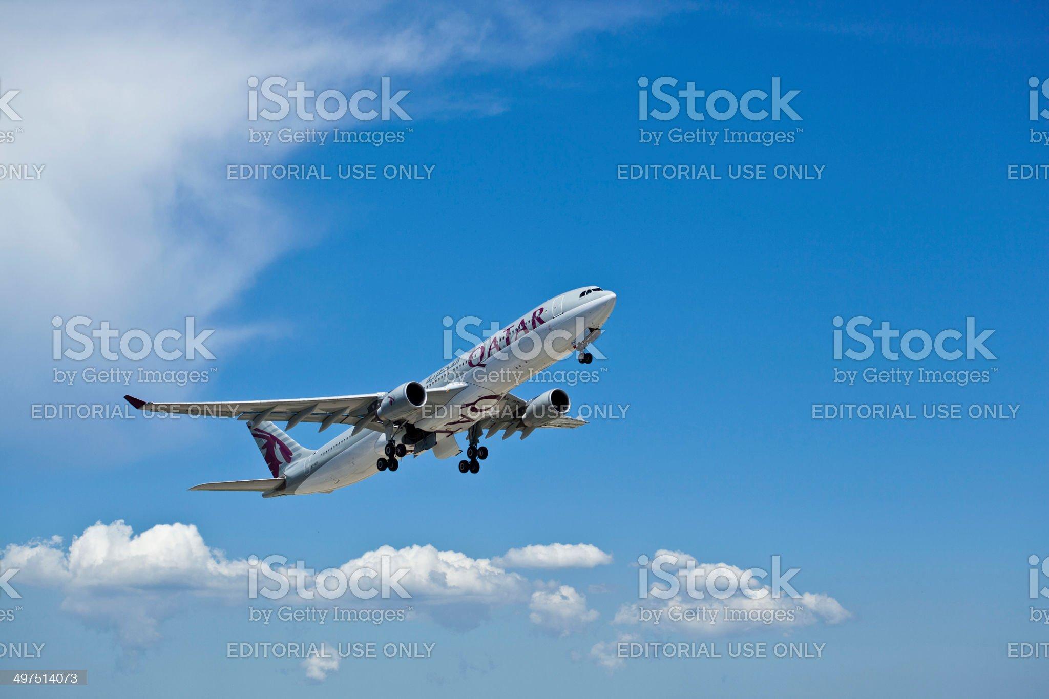 Qatar Airways royalty-free stock photo