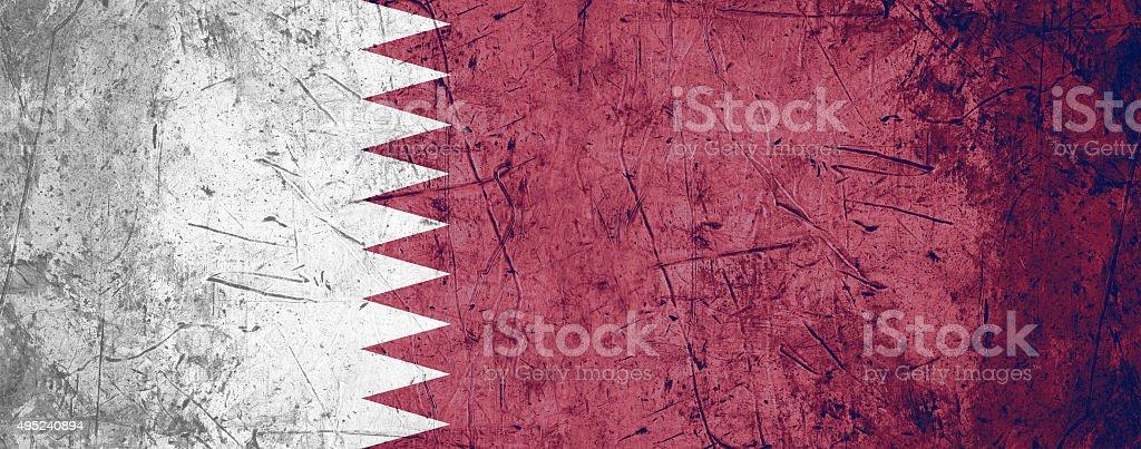 Qatar flag stock photo
